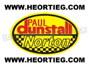 Paul Dunstall Norton Tank and Fairing Transfer Decal D20084-7